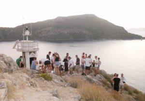 September 2014 Copenhagen Office Retreat Sundowners at St Nicholas Island, Fethiye